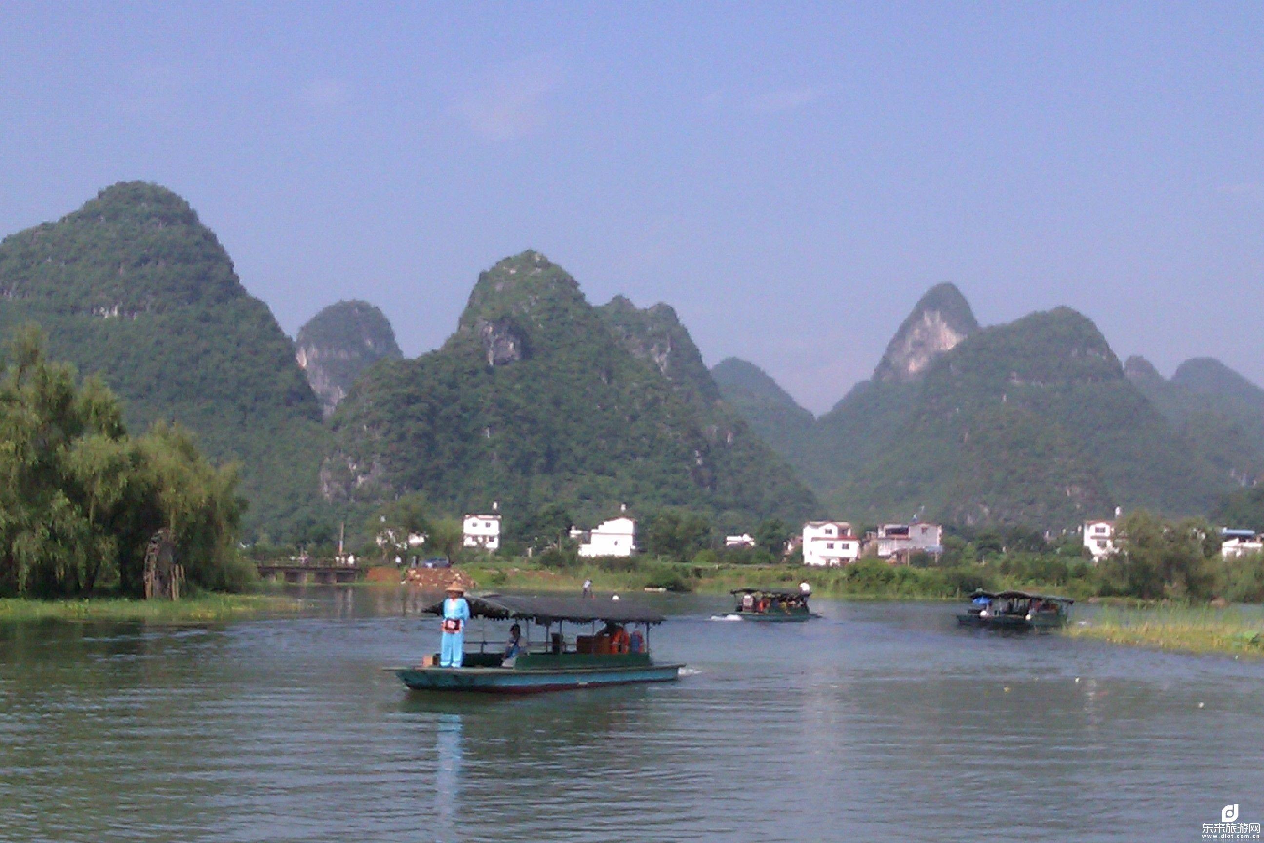 全景大漓江、古东瀑布、龙脊梯田、银子岩、遇龙河、世外桃源2飞6日游